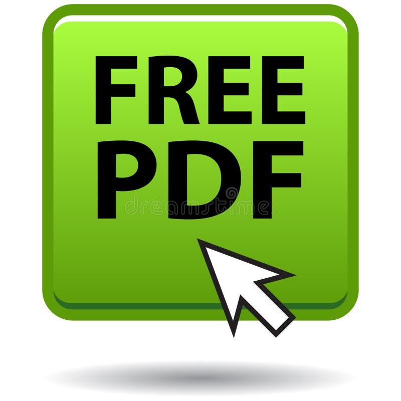 Pdf网象绿色正方形按钮 皇族释放例证