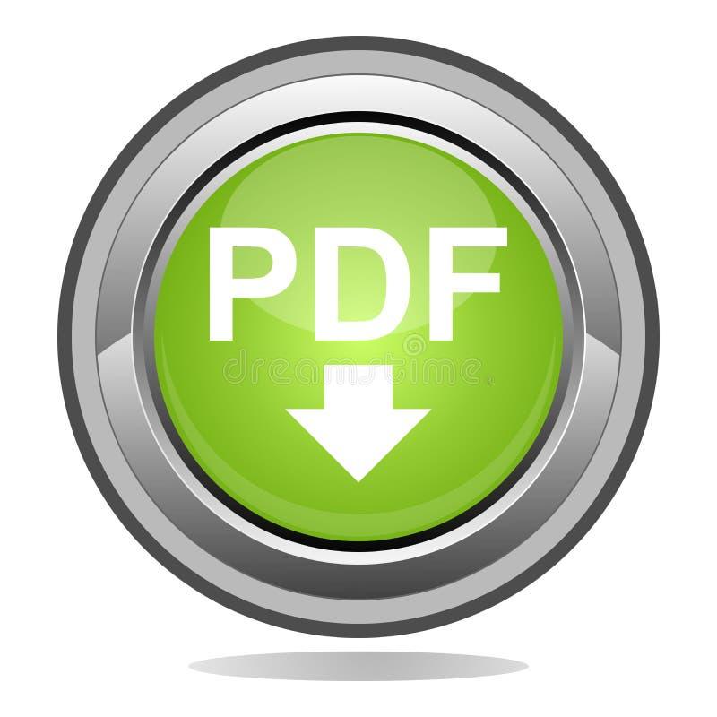 PDF button. PDF file button icon symbol vector illustration
