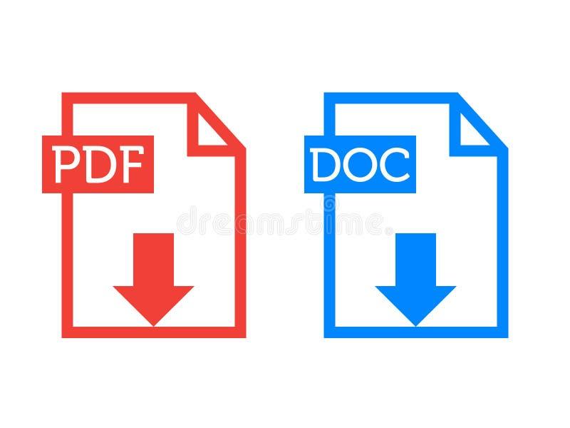 PDF DOC значков резюма стоковая фотография