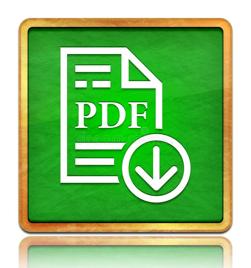 PDF document download icon chalk board green square button slate texture wooden frame concept isolated on white background with. Shadow reflection chalkboard stock photos