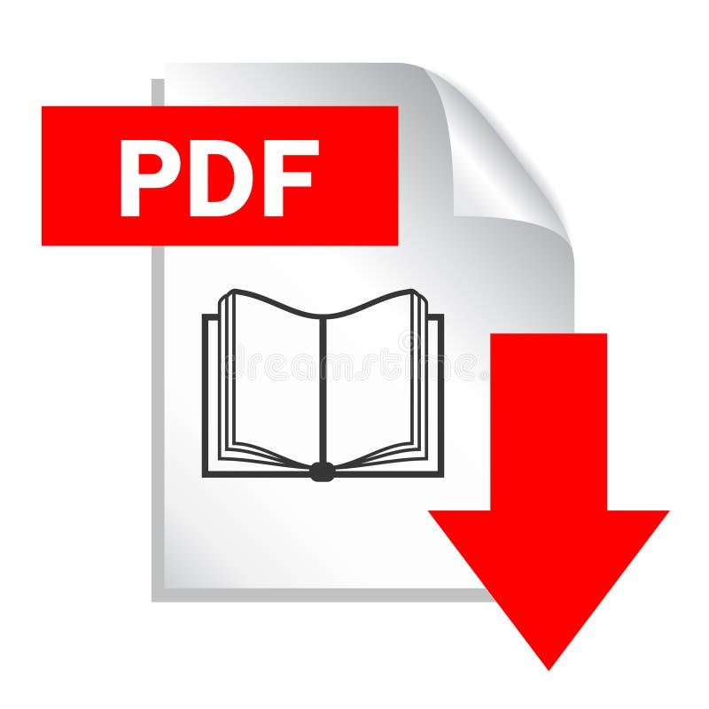 Pdf-dokumentnedladdning stock illustrationer