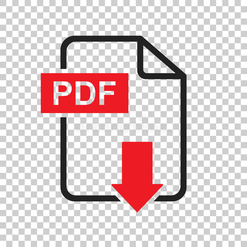 PDF download vector icon. Simple flat pictogram for business, ma vector illustration