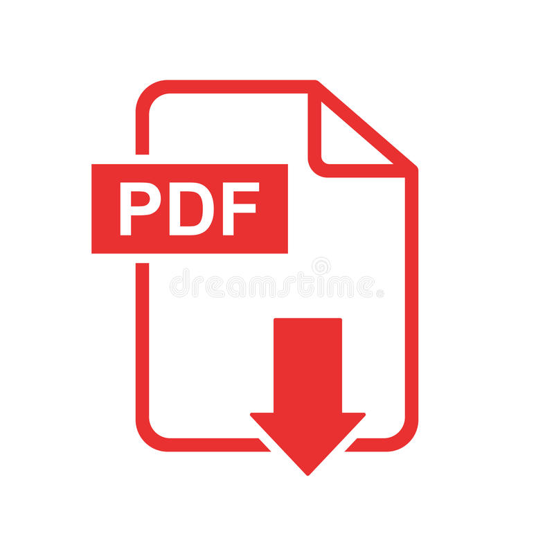 PDF download vector icon. Simple flat pictogram for business, ma. Rketing, internet concept. Vector illustration on white background royalty free illustration