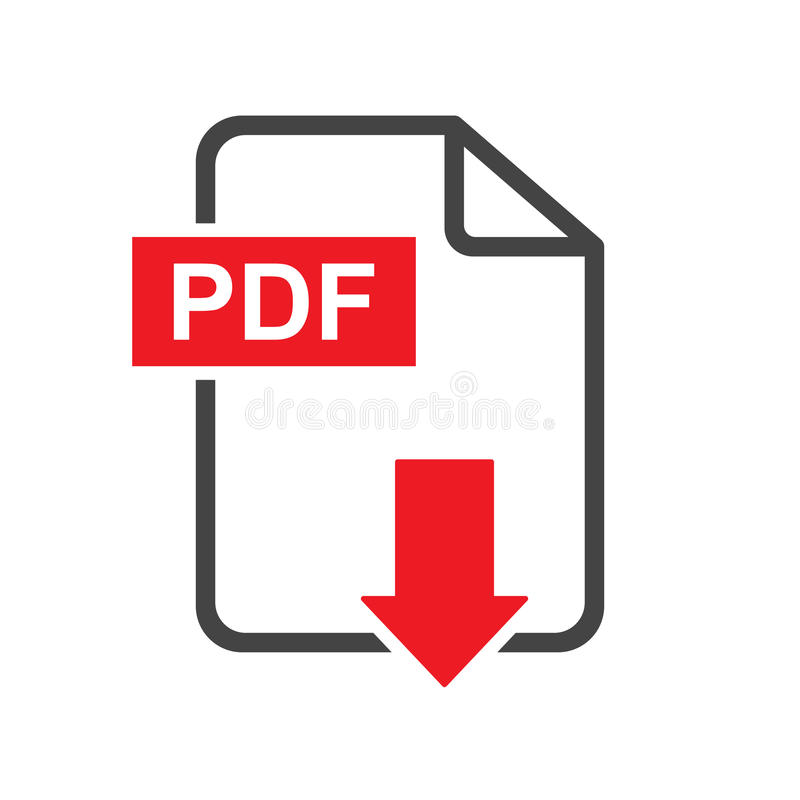 PDF download vector icon. Simple flat pictogram for business, ma. Rketing, internet concept. Vector illustration on white background stock illustration