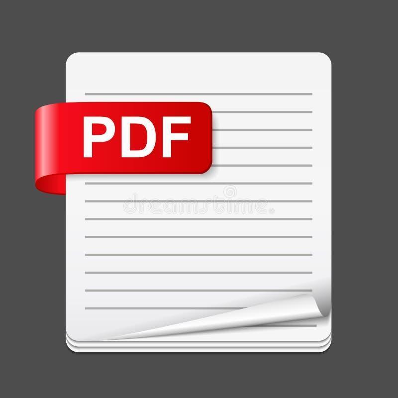 PDF File Icon. Illustration of PDF file icon vector illustration