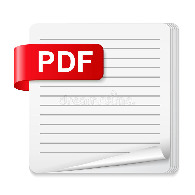 PDF File Icon. On white background vector illustration