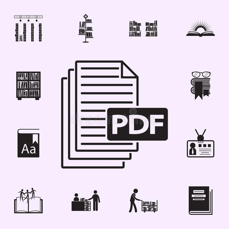 PDF paper sheet icons stock vector  Illustration of