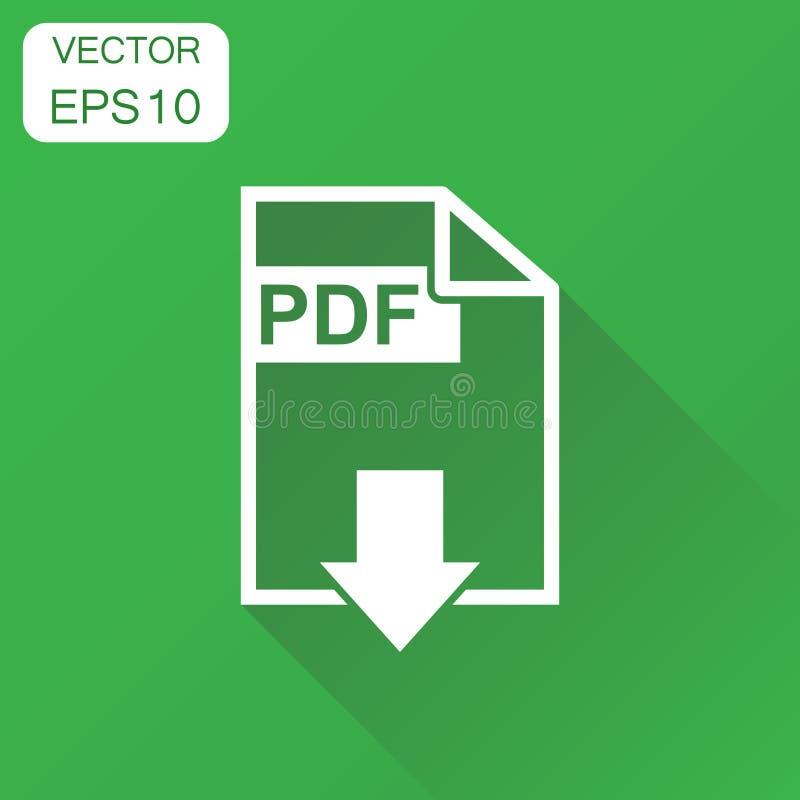 Pdf formata ściągania ikona Biznesowy pojęcia pdf piktogram wektor ilustracja wektor