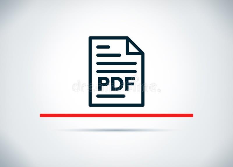 PDF-het pictogram abstracte vlakke van de achtergrond documentpagina ontwerpillustratie stock illustratie