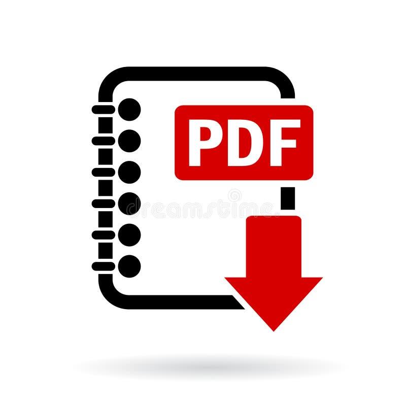 PDF-het pictogram van de dossierdownload vector illustratie