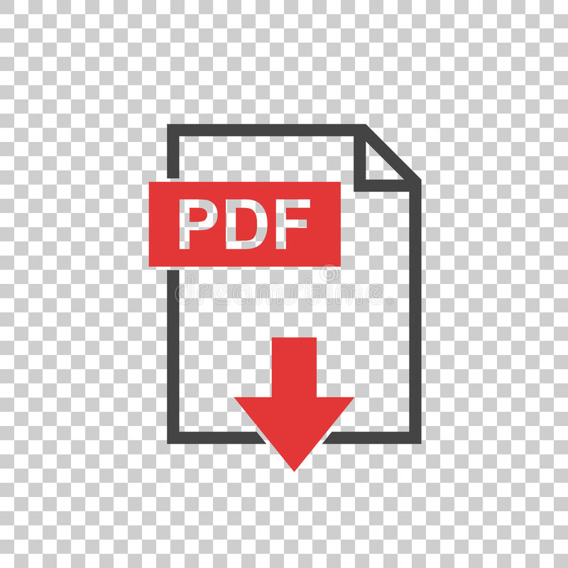 PDF icon on background. Simple pictogram vector illustration