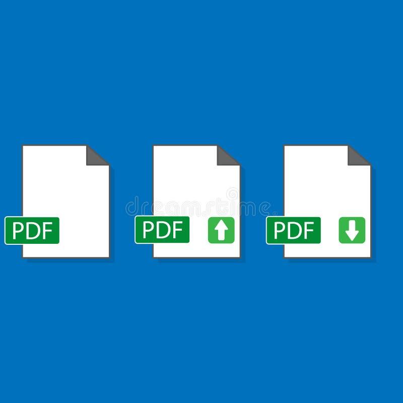 PDF ikona odizolowywaj?ca na tle royalty ilustracja