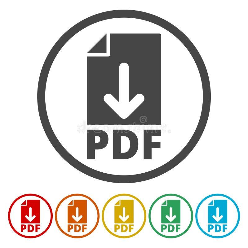 PDF ikona royalty ilustracja