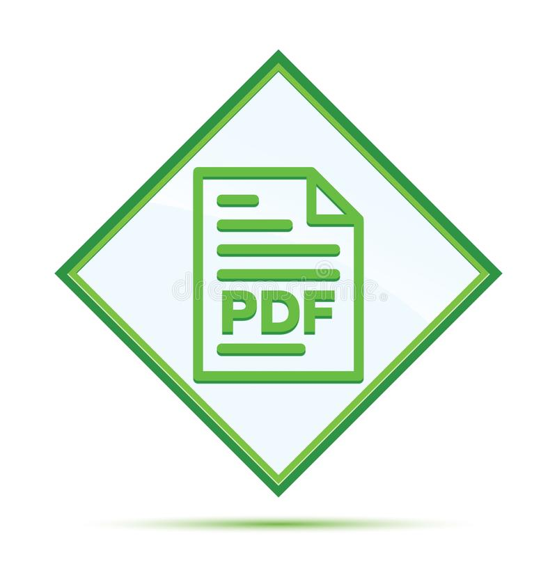 PDF-knoop van de het pictogram de moderne abstracte groene diamant van de documentpagina stock illustratie