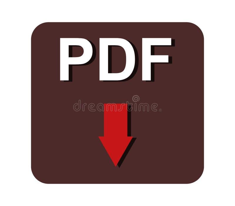 Pdf-nedladdning vektor illustrationer