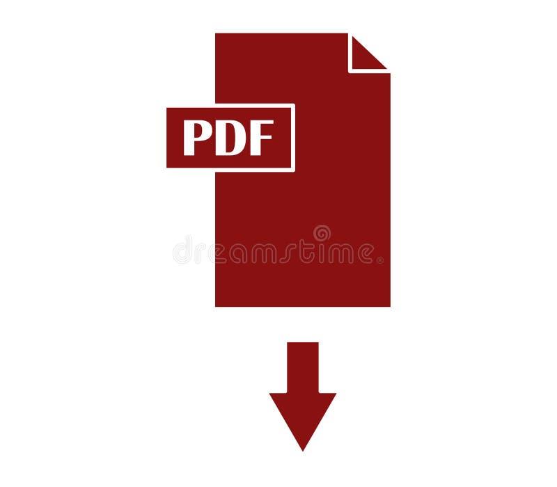 Pdf-nedladdning stock illustrationer