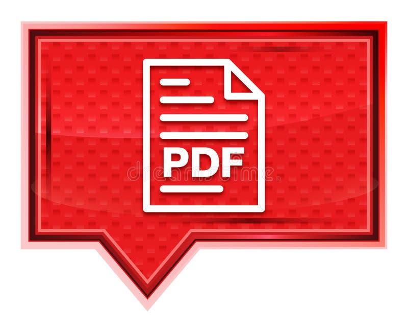 PDF-nevelige het pictogram van de documentpagina nam roze bannerknoop toe royalty-vrije illustratie