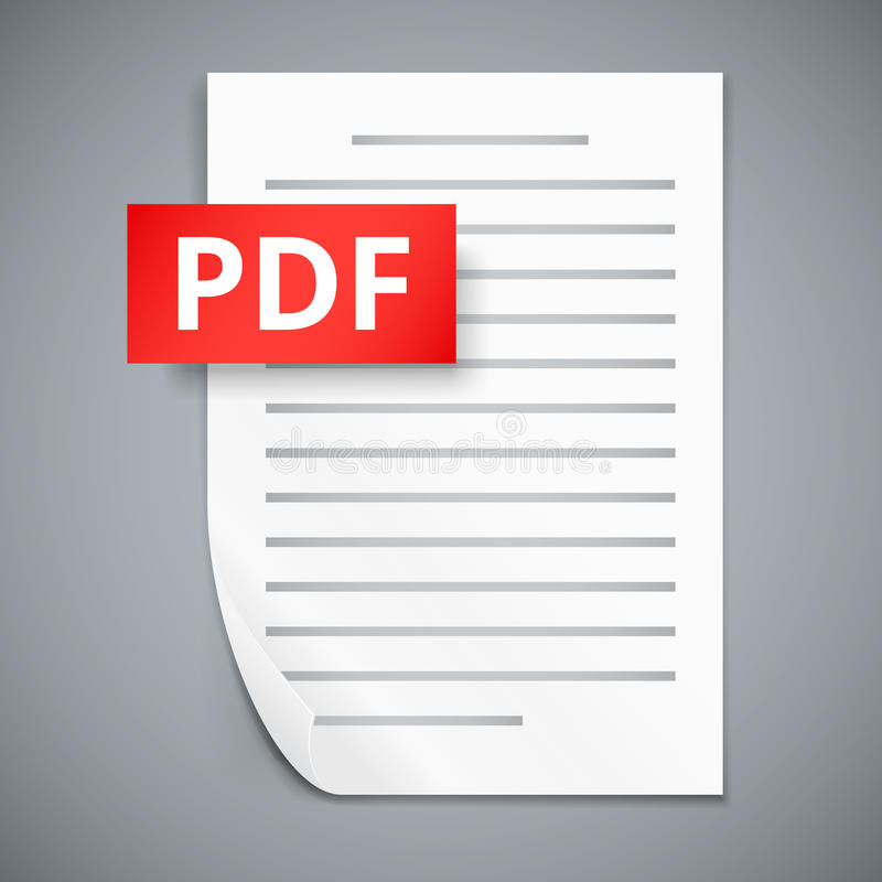 PDF paper sheet icons stock illustration
