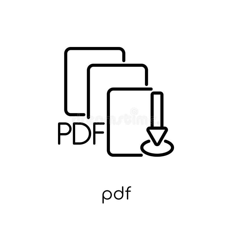 PDF-pictogram  stock illustratie