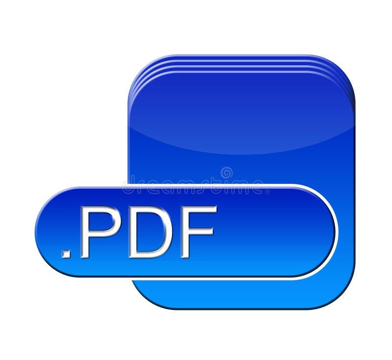 Pdf symbol. Pdf file symbol for a web site royalty free illustration