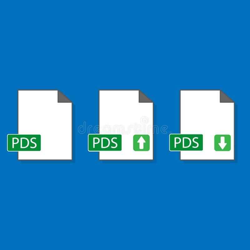 Pdf-symbol som isoleras p? bakgrund royaltyfri illustrationer