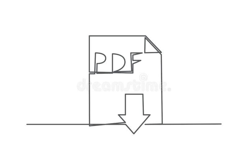 PDF un disegno a tratteggio illustrazione vettoriale