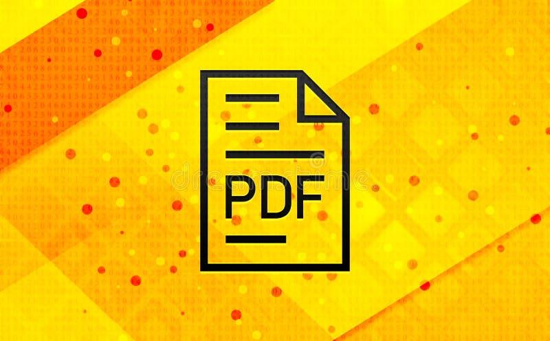PDF-van de het pictogram de abstracte digitale banner van de documentpagina gele achtergrond vector illustratie