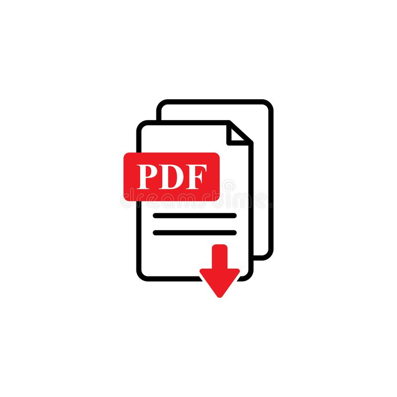 Pdf vector icon. Sign symbol royalty free illustration