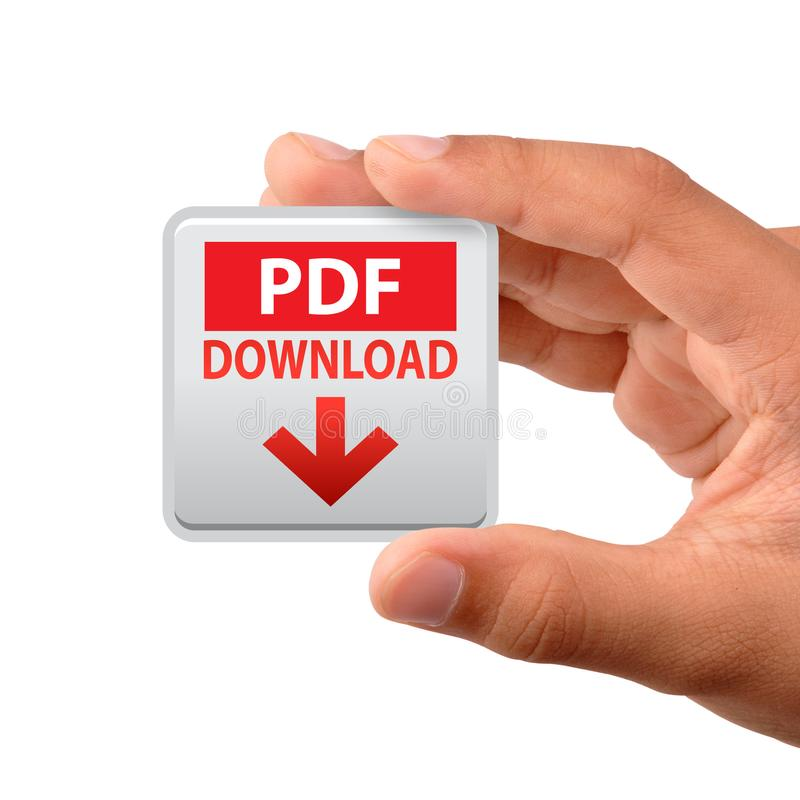 Pdf web icon hand stock images