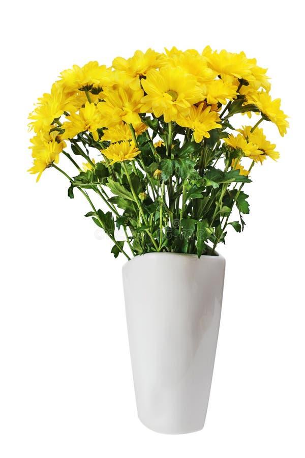 Peça central colorida do arranjo do ramalhete da flor do amarelo do outono dentro fotografia de stock