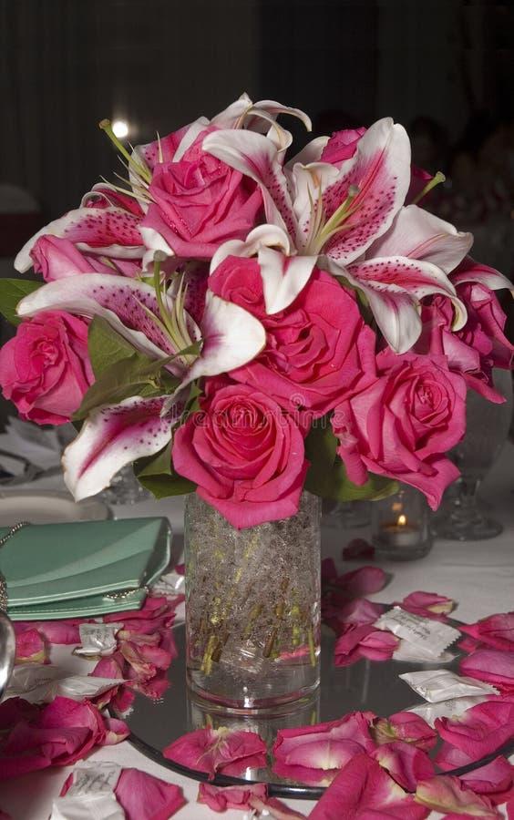 Peça central do casamento imagens de stock royalty free