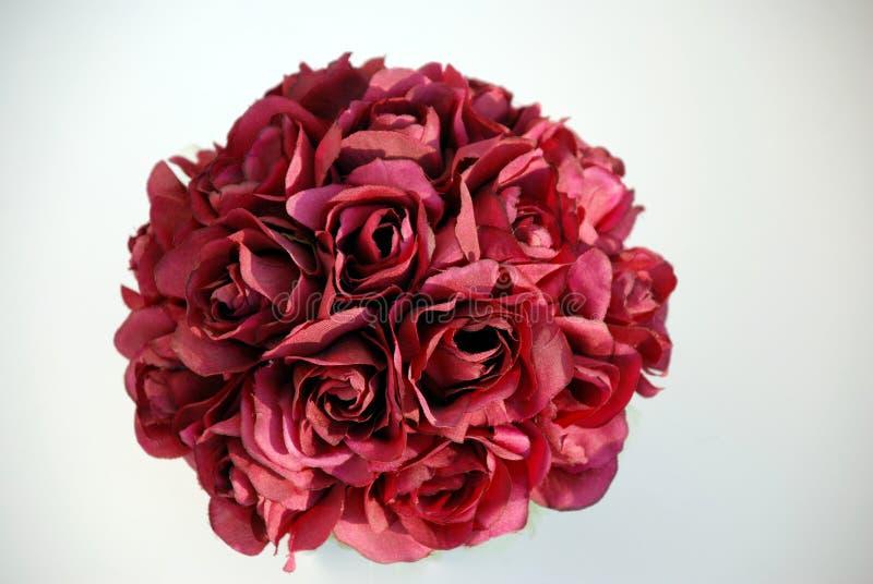 Peça central vermelha de Rosa foto de stock royalty free