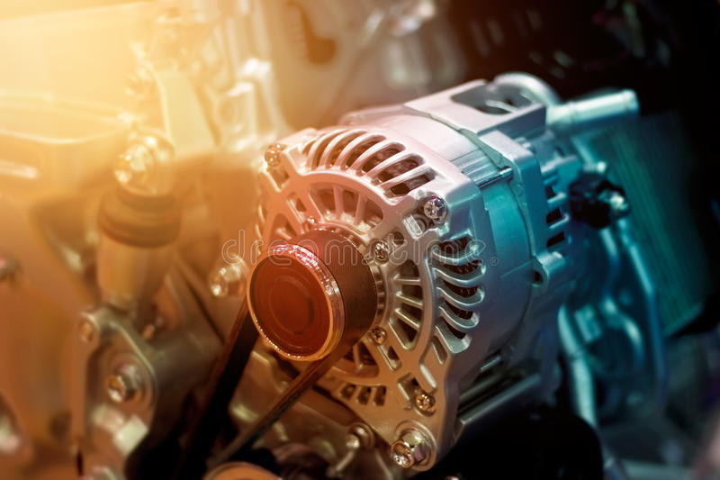 Peça colorida do motor de automóveis fotografia de stock royalty free