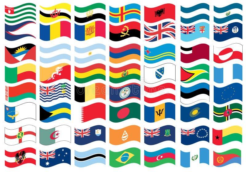 Peça da bandeira nacional de um jogo cheio ilustração stock