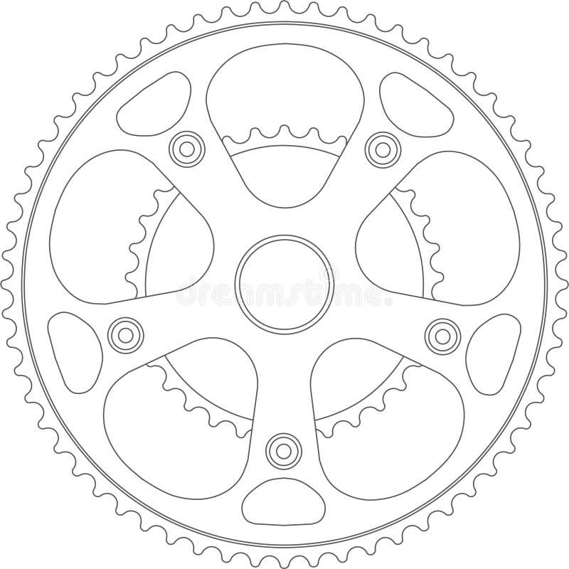 Peça da bicicleta da engrenagem ilustração royalty free