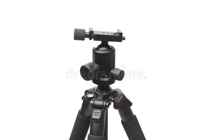 Peça da cabeça do tripé de câmera imagens de stock royalty free