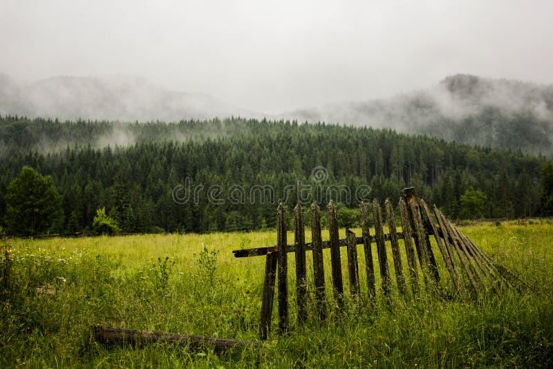 Peça da cerca de madeira imagem de stock royalty free