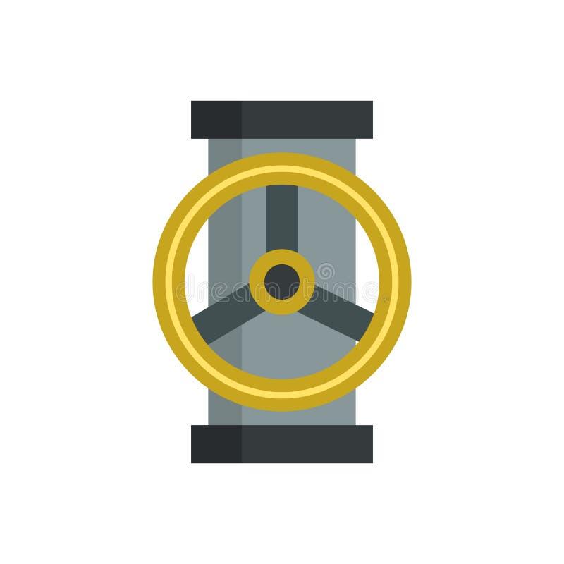 Peça de prata molhada de aço da torneira de água do vetor liso do equipamento mecânico da engrenagem do trabalho do ícone da maqu ilustração royalty free