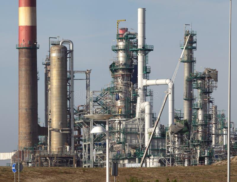 Peça de uma refinaria de petróleo e de uma central energética imagem de stock royalty free