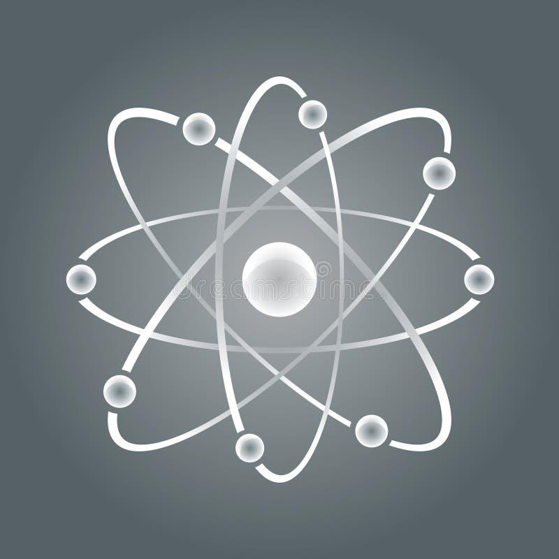 Peça do átomo no bakground branco. ilustração royalty free