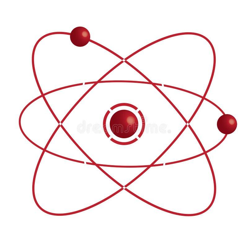Peça do átomo no bakground branco. ilustração do vetor