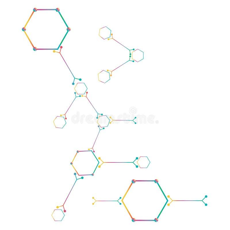 Peça do átomo no fundo branco. ilustração royalty free