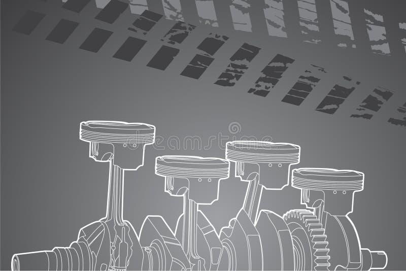 Peça do motor ilustração stock