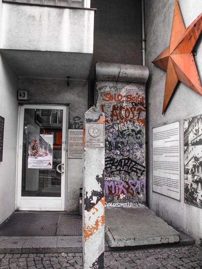 Peça do muro de Berlim foto de stock royalty free