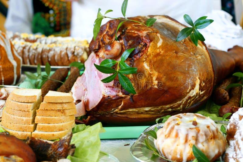 Peça do presunto da carne de porco fotografia de stock
