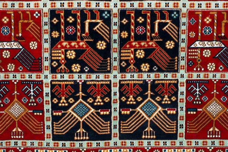 A peça do tapete de turco-Azerbaijão fotografia de stock royalty free