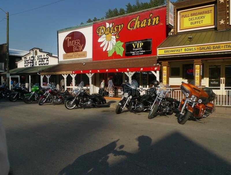 Peça fundamental, South Dakota do centro com presentes de Black Hills & ouro, caixa da isca, Daisy Chain fotos de stock