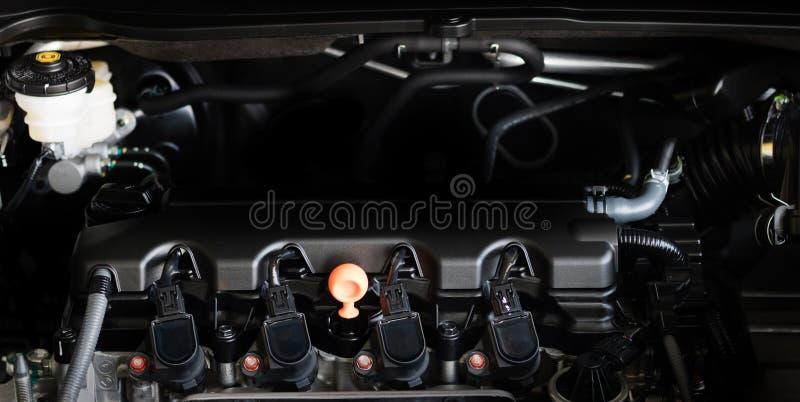 Peça nova do motor de automóveis Motor de automóveis poderoso moderno O en poderoso imagem de stock royalty free