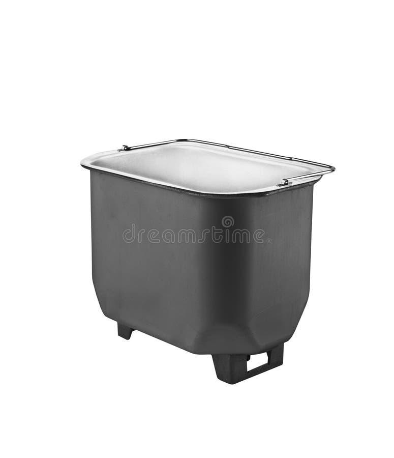 Peça profunda da frigideira No fundo branco foto de stock royalty free