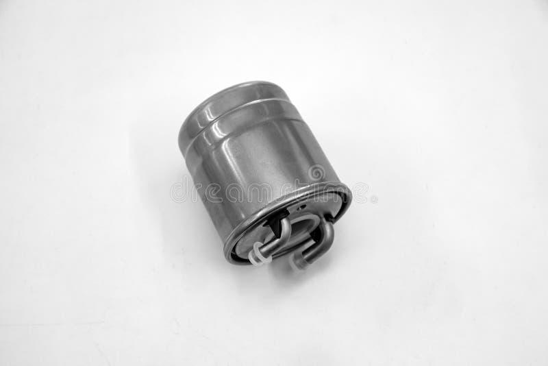 Peça sobresselente do filtro de combustível do carro para a gasolina e o diesel de limpeza antes de obter no close-up do motor  fotografia de stock royalty free